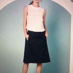 Boden Chino A-lime Skirt with Pockets
